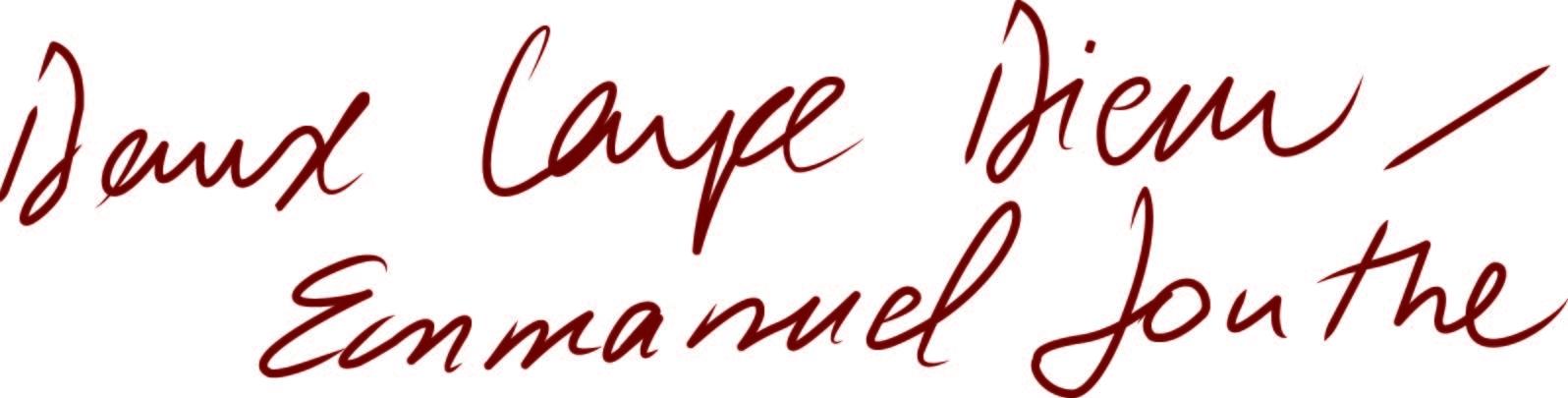 Danse Carpe Diem/Emmanuel Jouthe Logo